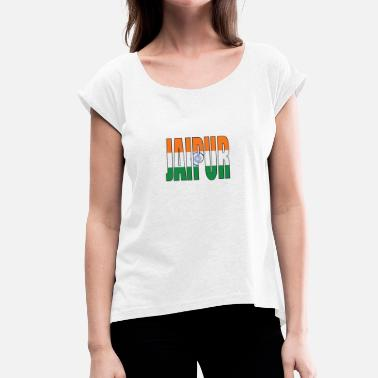 India Ink INDIA JAIPUR - Women's T-Shirt with rolled up sleeves