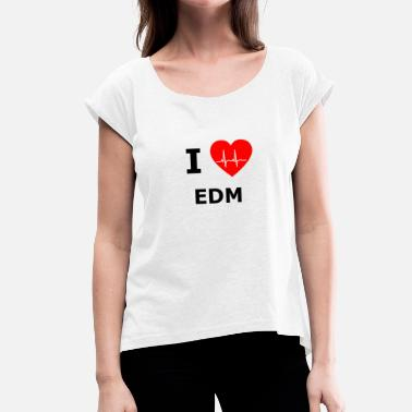 Balaton EDM electronic dance music festival shirt - Women's T-Shirt with rolled up sleeves