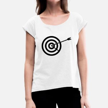 Targeted Target - Women's T-Shirt with rolled up sleeves