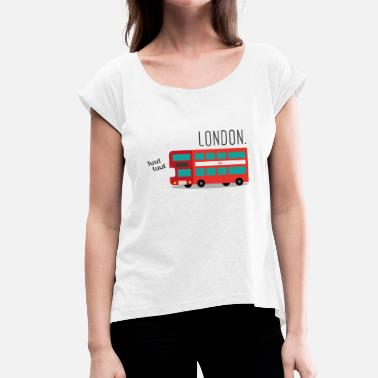 Double Decker Bus The Red London Bus - Women's T-Shirt with rolled up sleeves