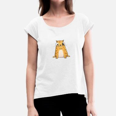 Cryptokitty Ethereum CryptoKitties Twich The Future Is Meow - Women's T-Shirt with rolled up sleeves