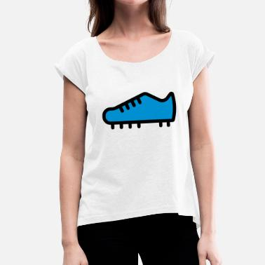 Football Boots football boot - Women's T-Shirt with rolled up sleeves