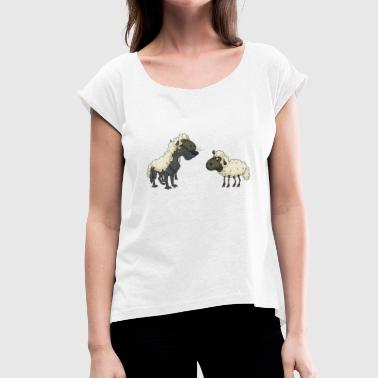 Wolf sheep - Women's T-Shirt with rolled up sleeves