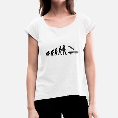 Trampoline Evolution Trampoline Gymnastics Jumping Gymnastics - Women's T-Shirt with rolled up sleeves