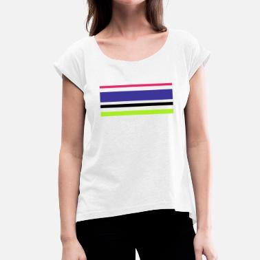 Strip strip - Women's T-Shirt with rolled up sleeves