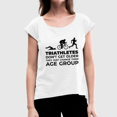 Triathlet Hawaii Triathletes - Frauen T-Shirt mit gerollten Ärmeln