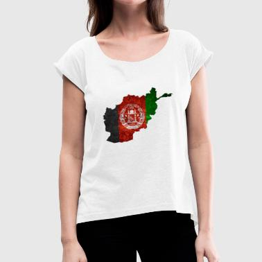 Afghanistan flag - Women's T-Shirt with rolled up sleeves