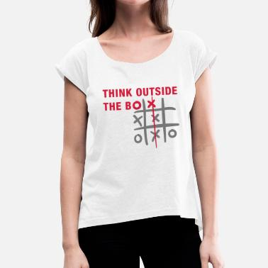 Think Outside The Box Think outside the box - T-shirt à manches retroussées Femme