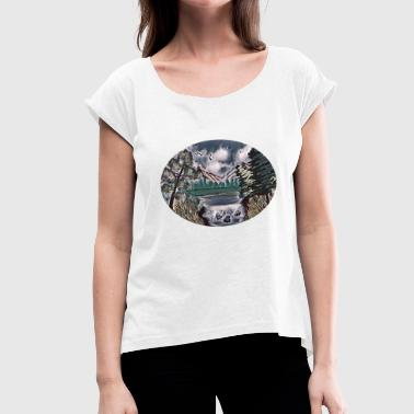 drawing - Women's T-Shirt with rolled up sleeves