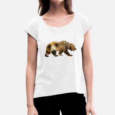 Brown Bear Brown bear - Women's T-Shirt with rolled up sleeves