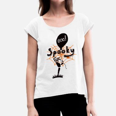 Spooky T-shirt - Women's T-Shirt with rolled up sleeves