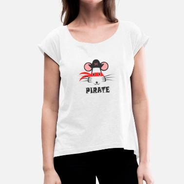 Graphic Pirates Pirate - Women's T-Shirt with rolled up sleeves