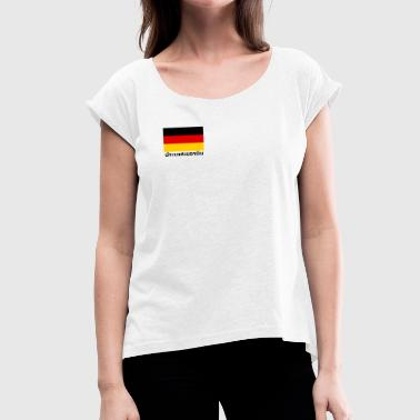 Germany in Thai - Women's T-Shirt with rolled up sleeves