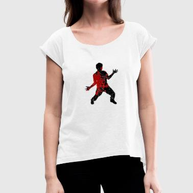 Zombie Bloody Bloody Zombie - Bloody Zombie Halloween Horror - Women's T-Shirt with rolled up sleeves