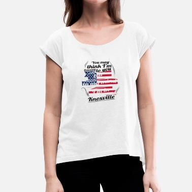 Knoxville THERAPIE HOLIDAY Reizen Amerika USA Knoxville - Vrouwen T-shirt met opgerolde mouwen
