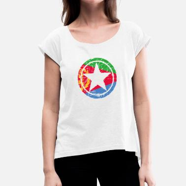 Eritrea roots love heart heart home Eritrea png - Women's T-Shirt with rolled up sleeves