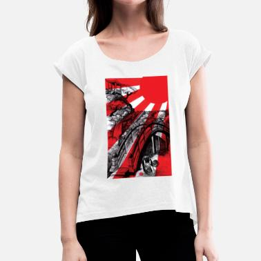 Japanese Tattoo JAPAN - Women's T-Shirt with rolled up sleeves