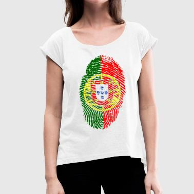 PORTUGAL PORTUGUESE FOOTBALL WORLD CHAMPIONSHIP - Women's T-Shirt with rolled up sleeves