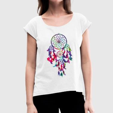 dream catcher - Women's T-Shirt with rolled up sleeves