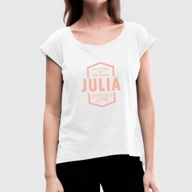 Julia JULIA - Women's T-Shirt with rolled up sleeves