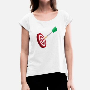 Target Darts darts target target dart arrows dartboa - Women's T-Shirt with rolled up sleeves