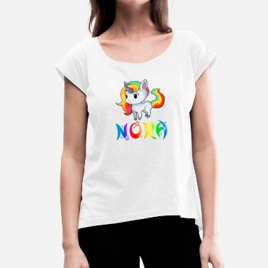 Nora Nora Unicorn - Women's T-Shirt with rolled up sleeves