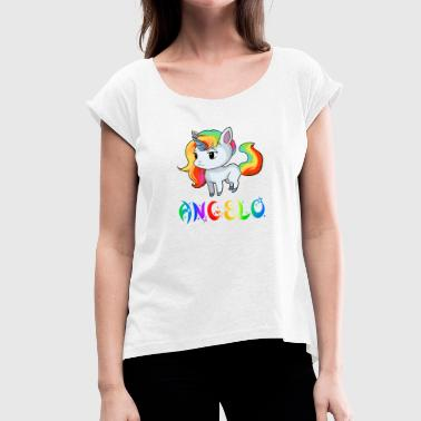 Angelo unicorn - Women's T-Shirt with rolled up sleeves