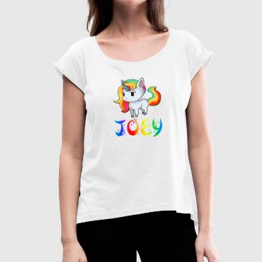Joey Unicorn Joey - Women's T-Shirt with rolled up sleeves