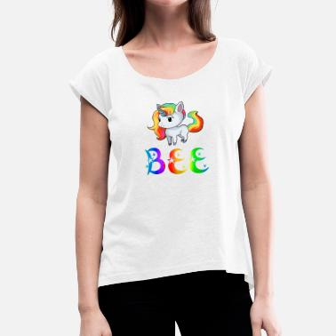 Bee Unicorn Unicorn Bee - Women's T-Shirt with rolled up sleeves