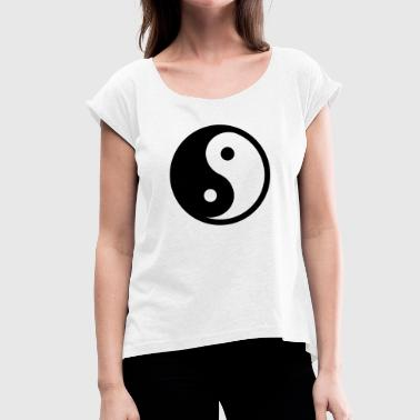 Daoism Yin & Yang - Women's T-Shirt with rolled up sleeves
