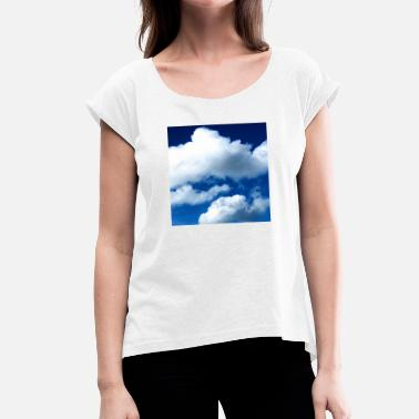 Vague Clouds - Women's T-Shirt with rolled up sleeves