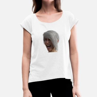 Woman Face woman face - Women's T-Shirt with rolled up sleeves