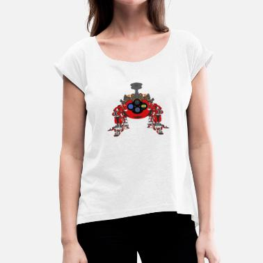 Mech Mech Spider 3 - Women's T-Shirt with rolled up sleeves