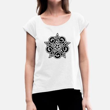 Ornamental ornament - Women's T-Shirt with rolled up sleeves