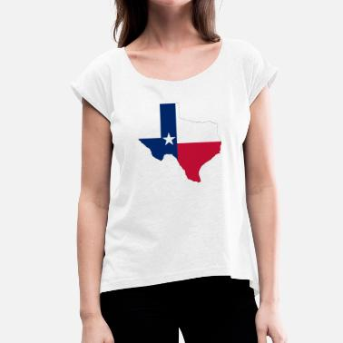 State Border Texas borders - Women's T-Shirt with rolled up sleeves