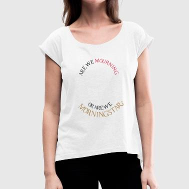 Ellis Lucifer Morningstar - Camiseta con manga enrollada mujer