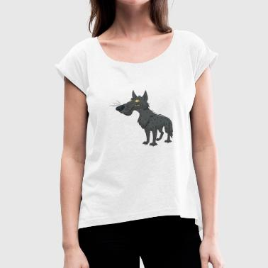 Baby Wolf wolf - Women's T-Shirt with rolled up sleeves