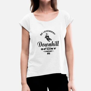 Downhill Mtb Downhill - MTB - Women's T-Shirt with rolled up sleeves