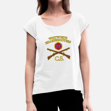 Muzzleloader confederate army - Women's T-Shirt with rolled up sleeves
