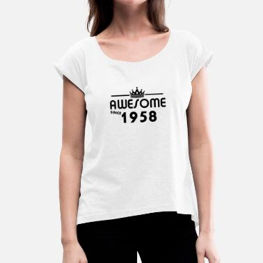 60 Years Old 1958, the gift for 60 year olds - Women's T-Shirt with rolled up sleeves