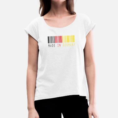 Spoof MADE IN GERMANY BARCODE - Women's T-Shirt with rolled up sleeves