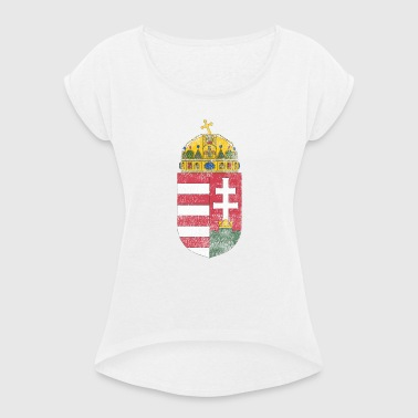 Hungarian Coat of Arms Hungary Symbol - Women's T-Shirt with rolled up sleeves