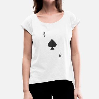 Ace Of Spades Ace Of Spades Halloween Costume Card Funny - Women's T-Shirt with rolled up sleeves