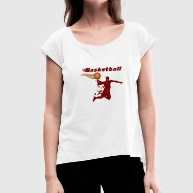 Air Basketball Flying Basketball - T-shirt à manches retroussées Femme
