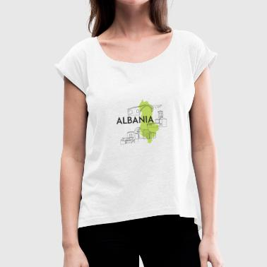 Country Albania - Women's T-Shirt with rolled up sleeves