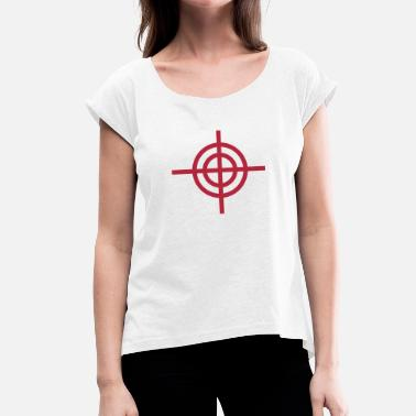 Crosshair crosshair - Women's Rolled Sleeve T-Shirt
