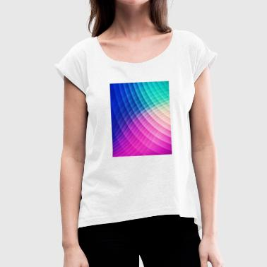 Abstract Colorful Art Pattern (Pride - Low poly)  - Vrouwen T-shirt met opgerolde mouwen