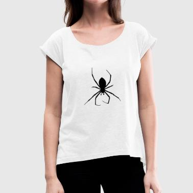 Spider - spider - Women's T-Shirt with rolled up sleeves