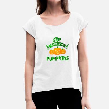 Dirty Jack Halloween pumpkin faces - Women's T-Shirt with rolled up sleeves