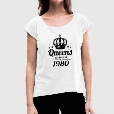 1980s Queen 1980 - Women's T-Shirt with rolled up sleeves
